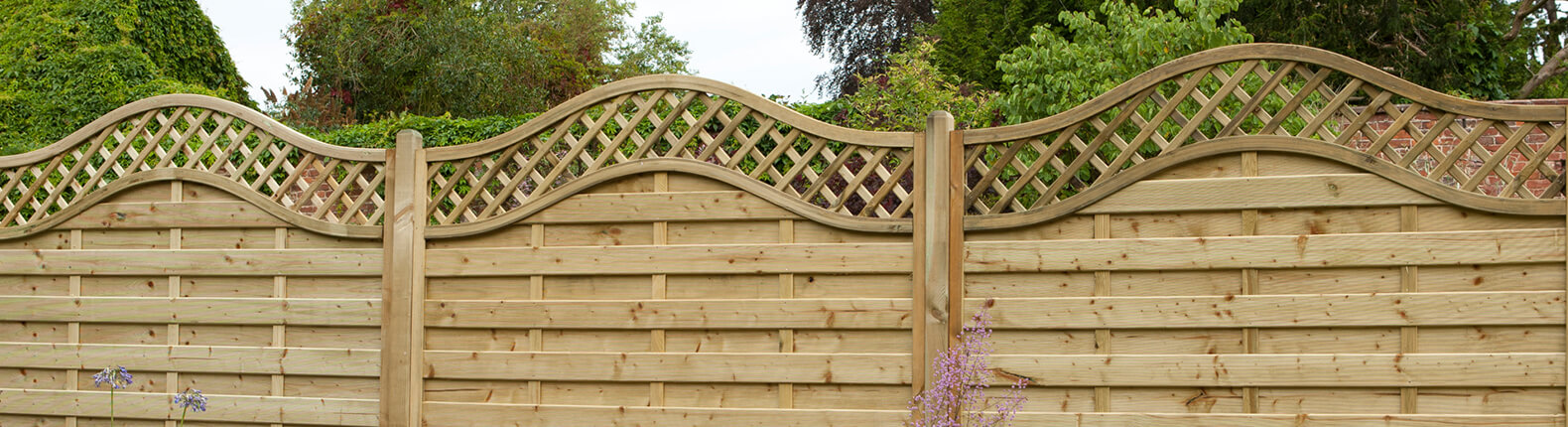 Trellis top fence panel