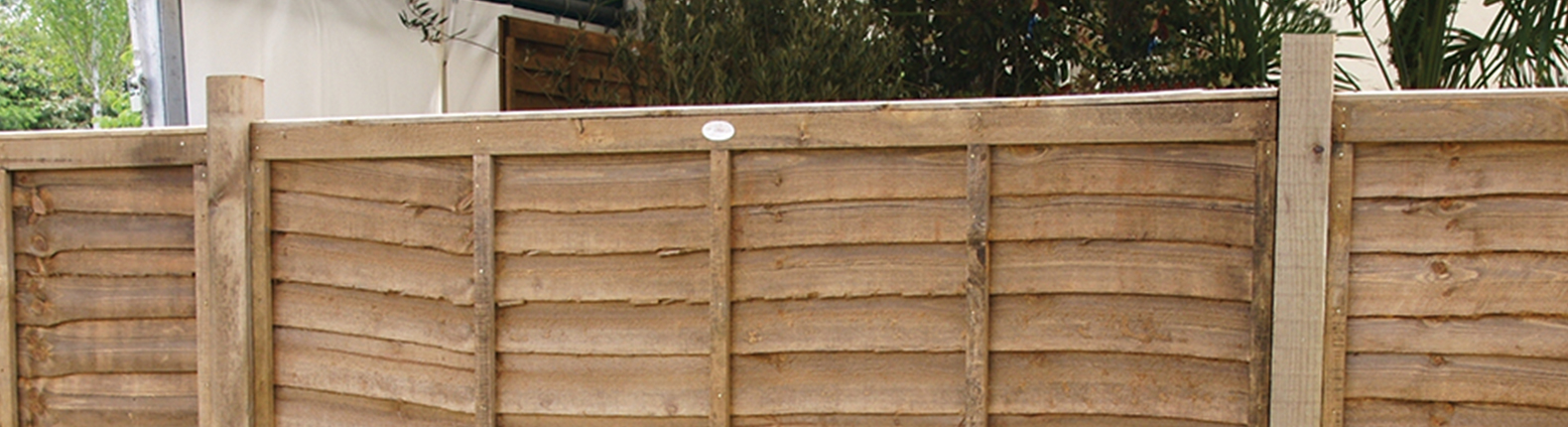 Brown fence panel
